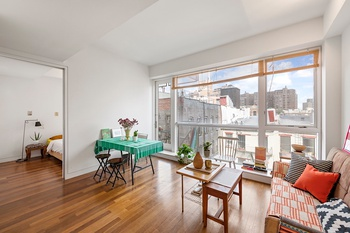Rarely Available! Chic 1 Bed Condo w/Large Balcony & Wall of Windows | Best part of the LES